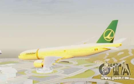 Boeing 777-200 TAROM Romania für GTA San Andreas rechten Ansicht
