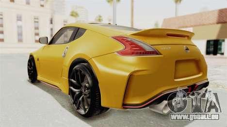 Nissan 370Z Nismo Z34 pour GTA San Andreas laissé vue