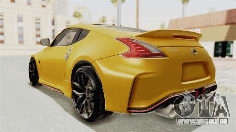 Nissan 370Z Nismo Z34 für GTA San Andreas linke Ansicht