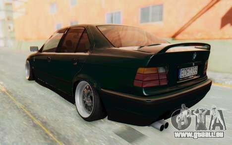 BMW 325tds E36 pour GTA San Andreas laissé vue