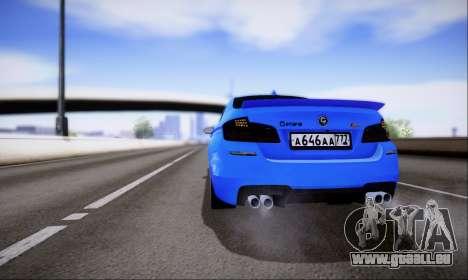 BMW M5 F10 G-Power für GTA San Andreas Innenansicht