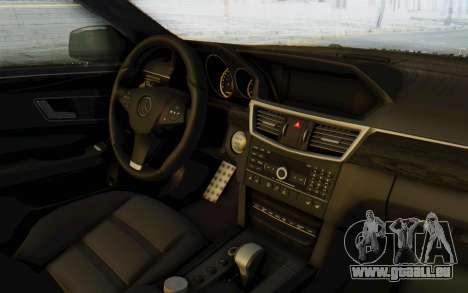 Mercedes-Benz E63 German Police Green pour GTA San Andreas vue intérieure