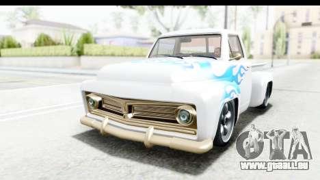 GTA 5 Vapid Slamvan without Hydro IVF pour GTA San Andreas vue intérieure