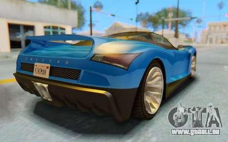GTA 5 Grotti Cheetah SA Lights pour GTA San Andreas vue de dessus