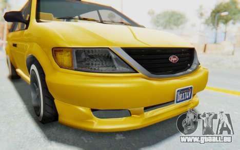 GTA 5 Vapid Minivan Custom IVF pour GTA San Andreas vue de dessus