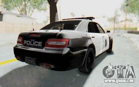 ASYM Desanne XT Pursuit v2 pour GTA San Andreas sur la vue arrière gauche