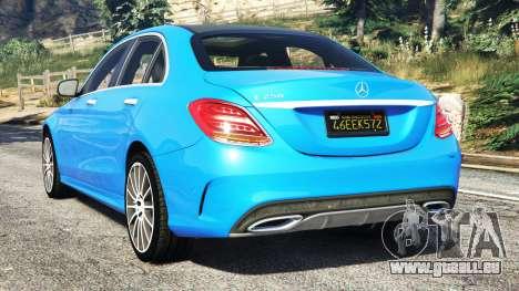 GTA 5 Mercedes-Benz C250 2014 hinten links Seitenansicht