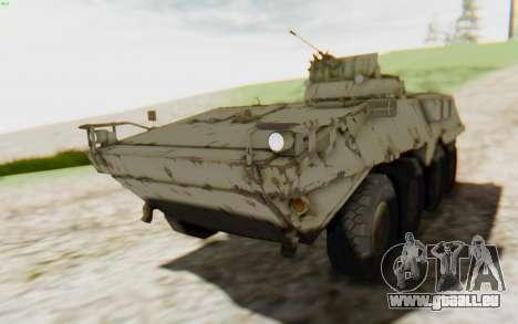 MGSV Phantom Pain STOUT IFV APC Tank v2 für GTA San Andreas Rückansicht