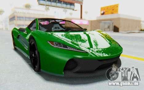 GTA 5 Progen T20 Devil PJ für GTA San Andreas zurück linke Ansicht