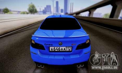 BMW M5 F10 G-Power für GTA San Andreas Rückansicht