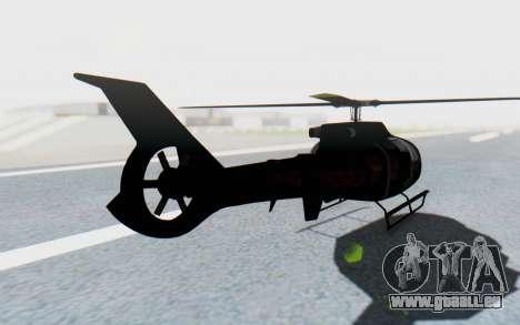 GTA 5 Maibatsu Frogger FIB IVF für GTA San Andreas zurück linke Ansicht
