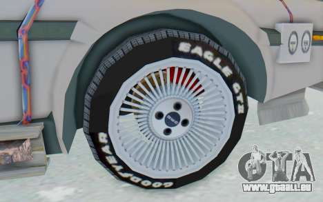 DeLorean DMC-12 2012 End Of The World für GTA San Andreas Rückansicht