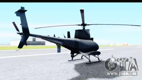 Northrop Grumman MQ-8B Fire Scout für GTA San Andreas rechten Ansicht