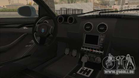 GTA 5 Grotti Bestia GTS v2 SA Lights pour GTA San Andreas vue intérieure