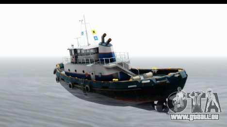 GTA 5 Buckingham Tug Boat v2 IVF für GTA San Andreas linke Ansicht