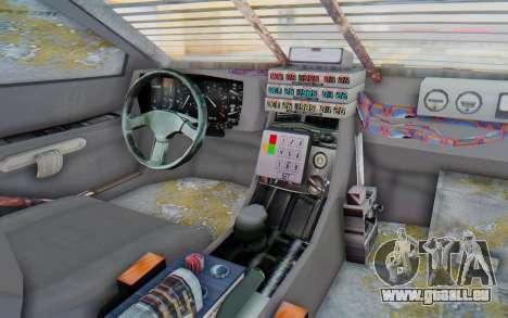 DeLorean DMC-12 2012 End Of The World für GTA San Andreas Innenansicht