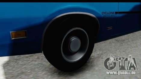 Mercury Cyclone Spoiler 1970 pour GTA San Andreas vue arrière
