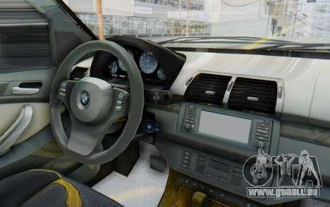 BMW X5 Pickup für GTA San Andreas Innenansicht