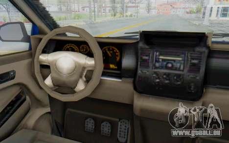 GTA 5 Vapid Minivan Custom für GTA San Andreas Innenansicht