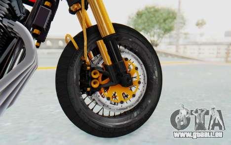 Honda CB750 Moge Cafe Racer für GTA San Andreas Rückansicht
