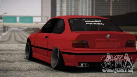 BMW E36 Stance für GTA San Andreas Rückansicht