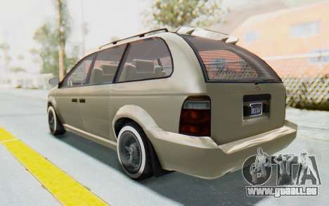 GTA 5 Vapid Minivan Custom without Hydro IVF pour GTA San Andreas laissé vue