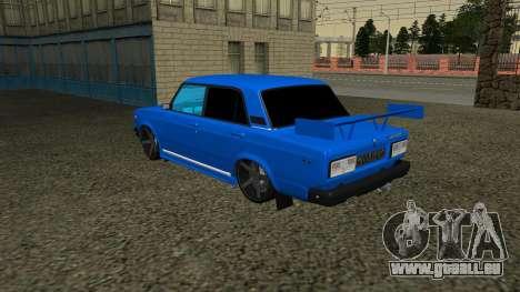 VAZ 2107 Sport pour GTA San Andreas vue intérieure