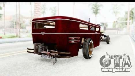 Unique V16 Fordor Ratrod pour GTA San Andreas sur la vue arrière gauche