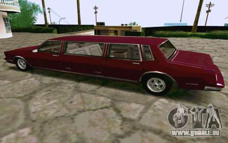 Tahoma Limousine v2.0 (HD) pour GTA San Andreas sur la vue arrière gauche