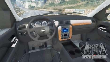 GTA 5 Chevrolet Tahoe droite vue latérale