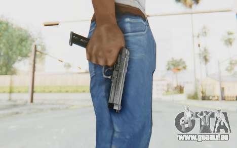 Tariq Iraqi Pistol Back v1 Silver Long Ammo für GTA San Andreas dritten Screenshot