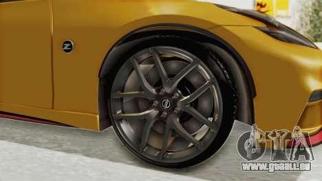Nissan 370Z Nismo Z34 für GTA San Andreas Rückansicht