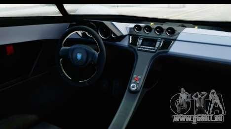GTA 5 Grotti X80 Proto SA Lights pour GTA San Andreas vue intérieure