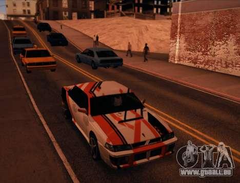 Sultan Asiimov pour GTA San Andreas sur la vue arrière gauche