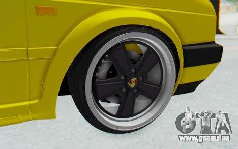 Volkswagen Golf Mk2 Lemon pour GTA San Andreas vue arrière