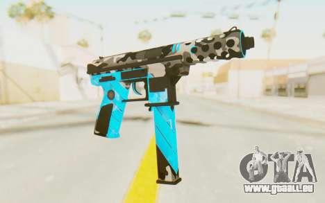 Tec-9 Neural Blue für GTA San Andreas