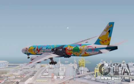 Boeing 777-300ER ZK-OKR für GTA San Andreas rechten Ansicht