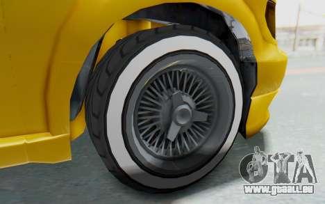 GTA 5 Vapid Minivan Custom IVF für GTA San Andreas Rückansicht