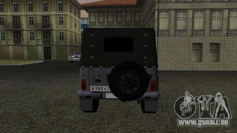 UAZ-469 für GTA San Andreas Innenansicht