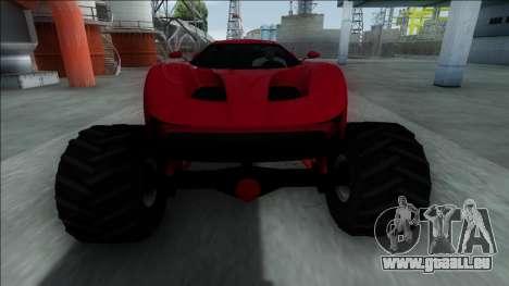 GTA V Vapid FMJ Monster Truck pour GTA San Andreas vue intérieure