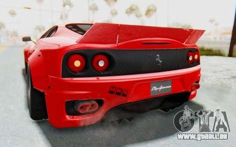 Ferrari 360 Modena Liberty Walk LB Perfomance v2 pour GTA San Andreas vue de dessus