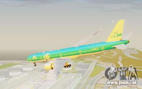 Boeing 777-300ER KLM - Royal Dutch Airlines v3 für GTA San Andreas rechten Ansicht