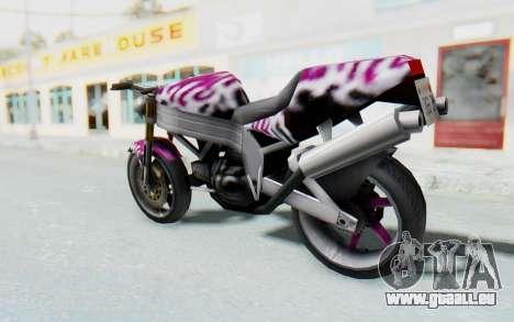 FCR-900 Custom v2 pour GTA San Andreas laissé vue