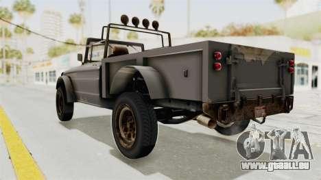 GTA 5 Canis Bodhi Trevor pour GTA San Andreas laissé vue