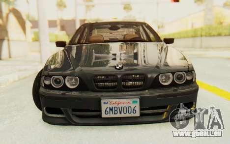 BMW M5 E39 M-Tech USDM pour GTA San Andreas vue arrière