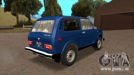 VAZ 2121 pour GTA San Andreas vue arrière
