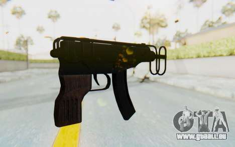 VZ-61 Skorpion Fold Stock für GTA San Andreas zweiten Screenshot