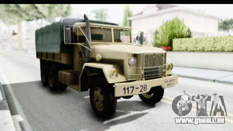 AM General M35A2 Sand pour GTA San Andreas vue de droite