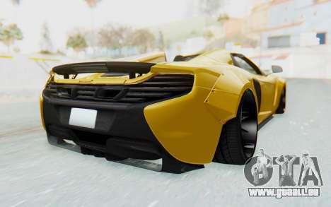 McLaren 650S Spyder ZenWorks pour GTA San Andreas laissé vue