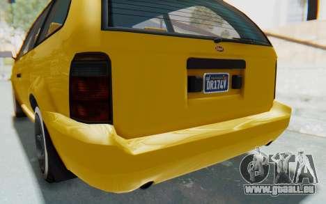 GTA 5 Vapid Minivan Custom IVF pour GTA San Andreas vue de dessous